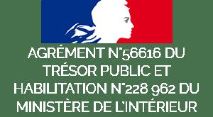 Agrément du Ministère de l'Intérieur