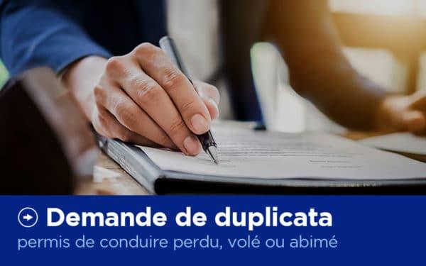 Demande de duplicata - Permis de conduire - X'Press Formalités