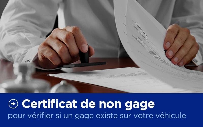Certificat de Non Gage - Carte Grise - X'Press Formalités